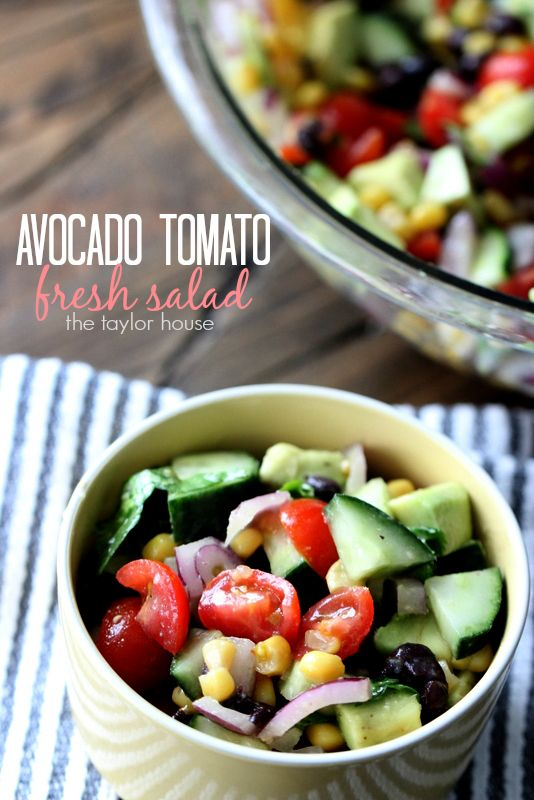 Black Bean, Corn and Avocado Salad | Dishes recipes ...