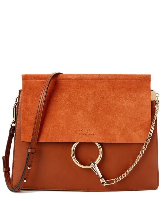 red chloe handbag - Chloe Faye Suede & Calfskin Medium Shoulder Bag is on Rue. Shop it ...