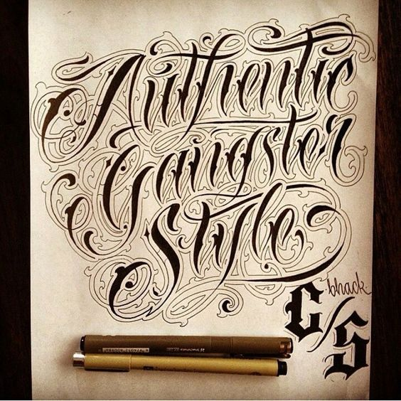 Authentic Gangster Style X Daniel Zaragoza #graphicdesign