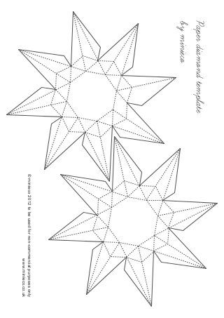 Paper Diamond Template Paper Diamond Diamond Template Printable Paper Patterns