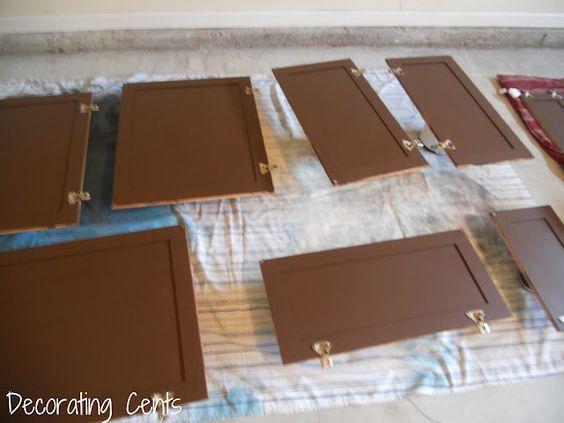 painting dark kitchen cabinets tutorial