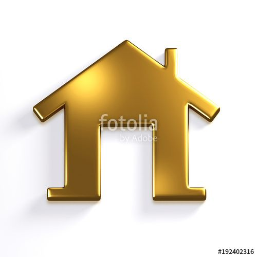 Golden House 3d Render Icon Illustration Stock Photo And Royalty Free Images On Fotolia Com Pic 19240231 Icon Illustration Image Design Stock Illustration