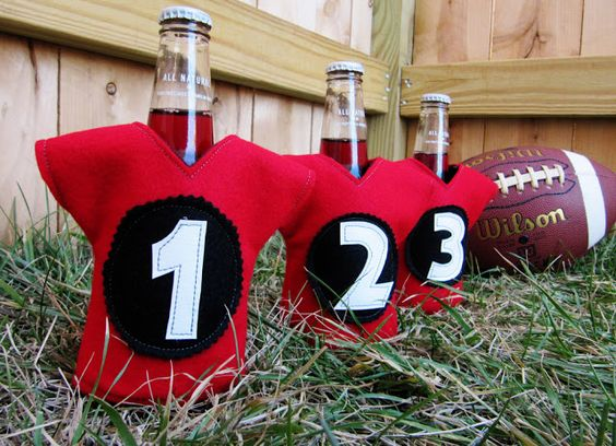 Sports Jersey Insulated Beverage Holders - These would be so fun in your favorite team's colors!