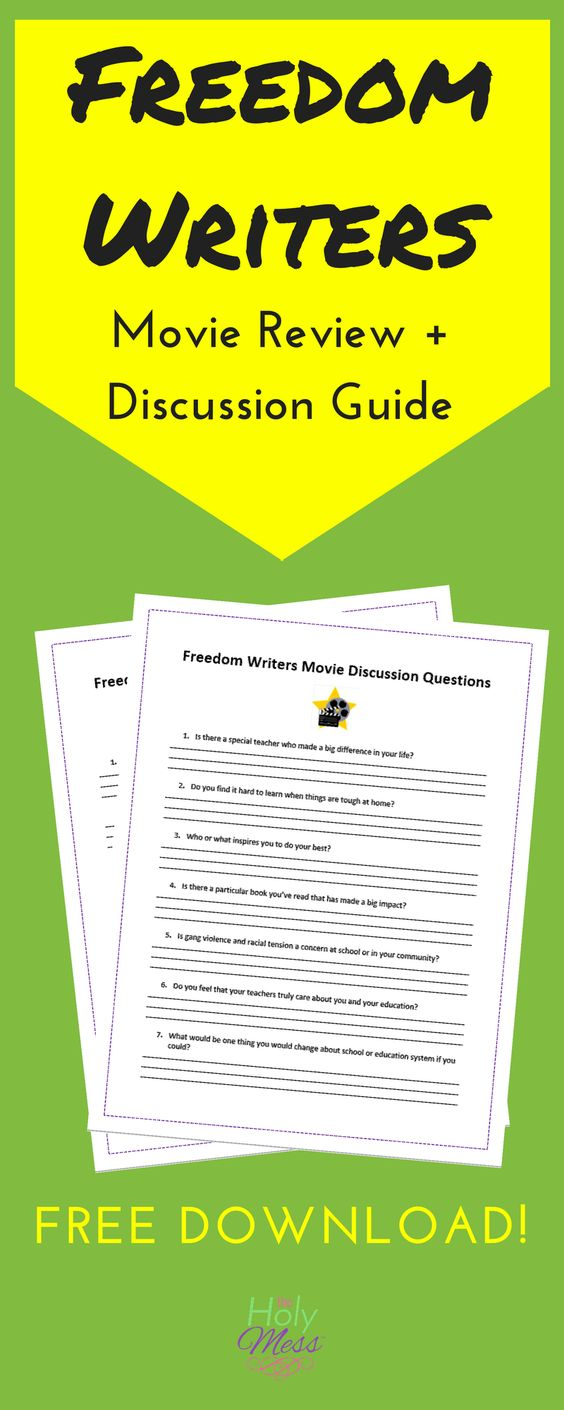 Freedom Writers Movie Review And Free Discussion Worksheet Freedom Writers Movie Freedom Writers Discussion Guide