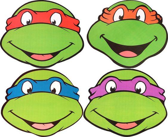 Teenage Mutant Ninja Turtles Multipack 4 Party Face