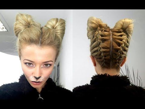 Halloween Cat Or Fox Hairstyle And Make Up Tutorial Awesome Hairstyles Cute Hairstyles For Medium Hair Cool Hairstyles Hair Styles