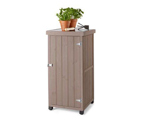 Schmaler Gartenschrank In 2020 Gartenschrank Schrank Metalldach