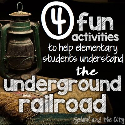 Exploring the Underground Railroad | Do you teach slavery or the underground railroad to elementary students? Here are some authentic, interactive activity ideas for you! {School & the City blog}