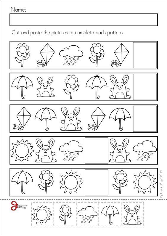Spring Kindergarten Math and Literacy Worksheets and Activities No – Spring Worksheets for Kindergarten