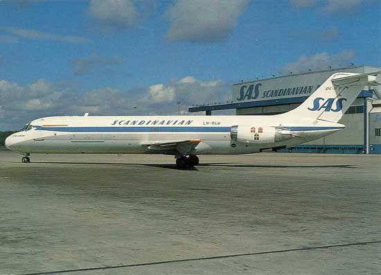 Famgus Aviation Postcards Sas Scandinavian Airlines System Scandinavian Airlines System Sas Scandinavian