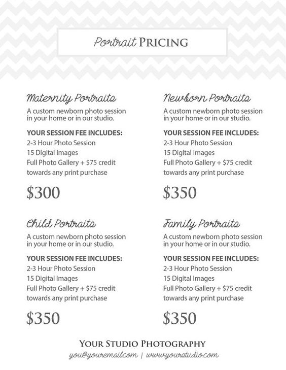 Photography Portrait Pricing Photographer by StudioTwentyNine - photography copyright release form