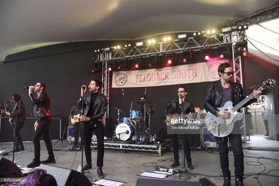 (L-R) Chris Cester, Miles Kane, and Matthew Bellamy and Dr. Pepper's Jaded Hearts Club Band perform during Rachael Ray's Feedback party at Stubb's Bar B Que during the South By Southwest conference and festivals on March 17, 2018 in Austin, Texas.  (Photo by Tim Mosenfelder/Getty Images)
