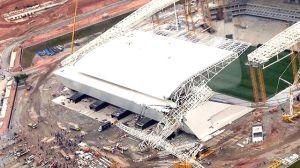 Acidente na Arena Corinthians, estádio da abertura da Copa do Mundo FIFA 2014