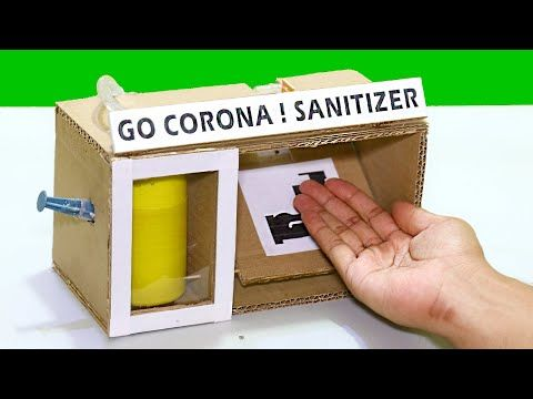 How To Make Electric Hand Sanitizer Machine Easy Way Science Projects Youtube Science Projects Diy Bottle Crafts Cells Project