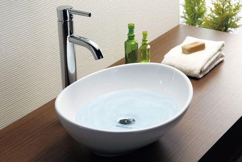 株 日本セラティ 美濃焼 ガラス製手洗い鉢 デザインミラー ガラス