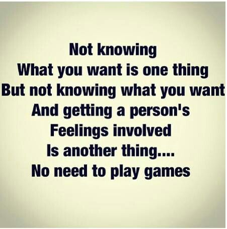 Quit playing games.  It's either all in or nothing at all.  Don't play games with other people's minds and hearts