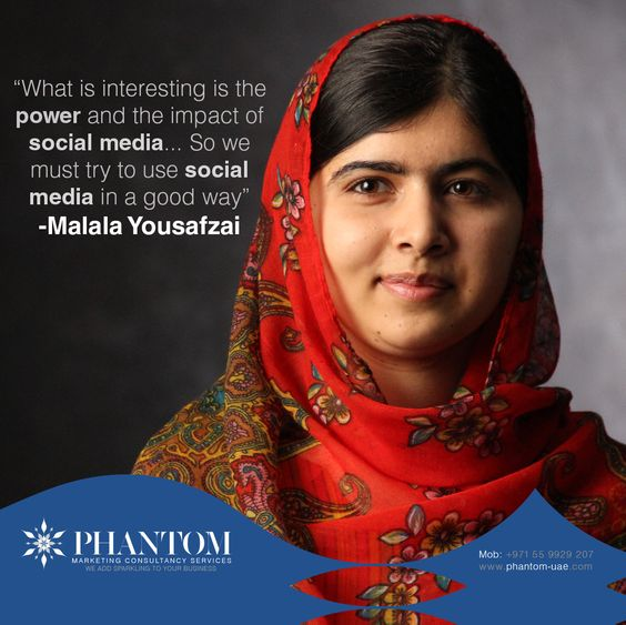 Image result for malala yousafzai social media