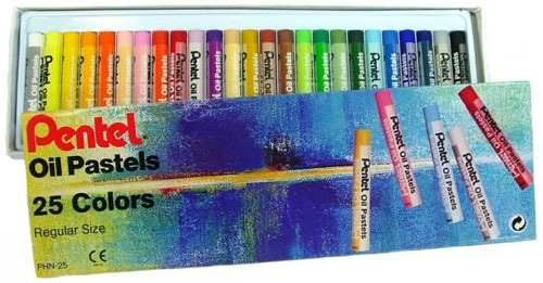 pentel - giz de cera - oil pastel - 25 cores
