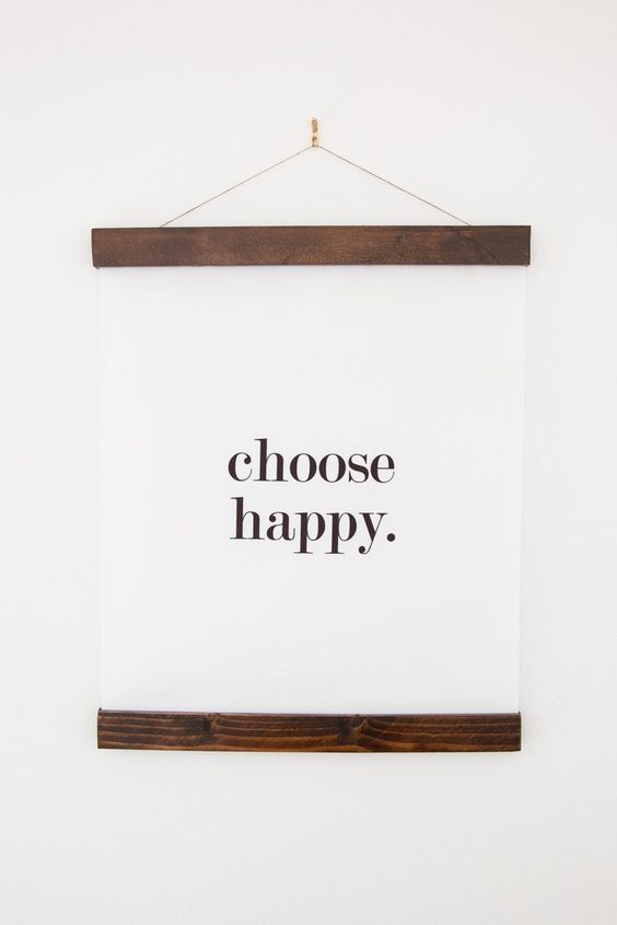 Choose Happy 16x20 Wall Hanging | Don't Worry Be Happy | Happiness Quote | Inspirational Gift |Choose Joy Think Positive Today is a good day