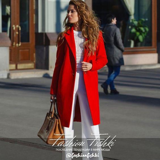 Красное Кашемировые пальто @d_angelann