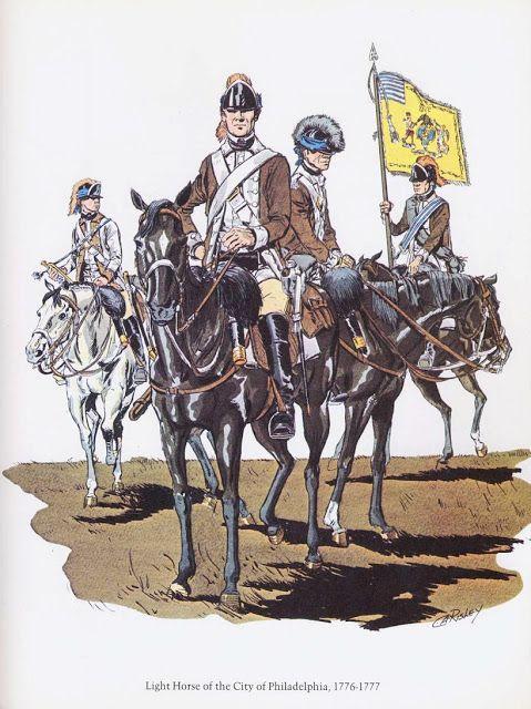 PLATES- CMH: Light Horse of the City of Philadelphia, 1776-1777, by H. Charles McBarron, Jr.