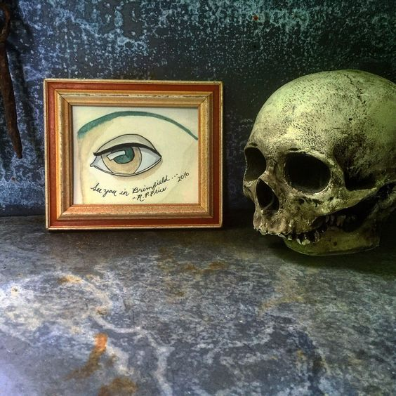 A personal favorite from my Etsy shop https://www.etsy.com/listing/294133693/folk-art-mixed-media-painting-eye-robert