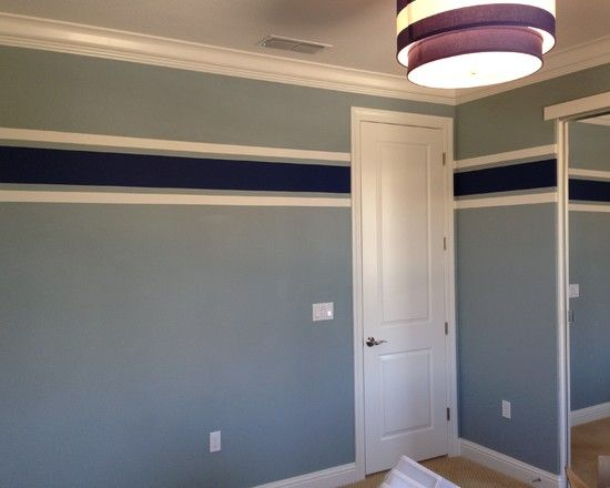 How to jazz up your boys bedroom using bright wall paint for Painting stripes on walls in kids room