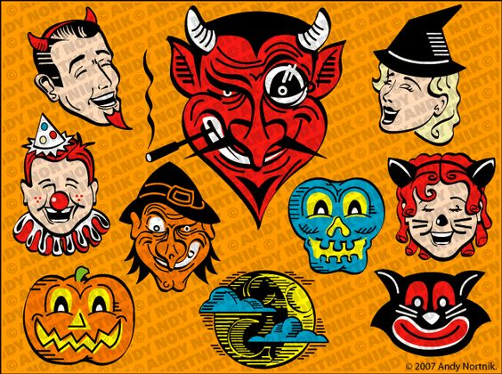 vintage clip art free   Halloween Clipart