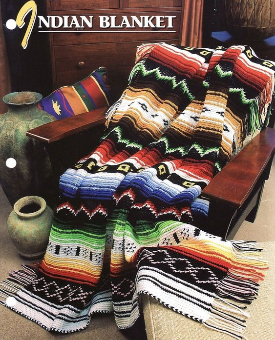 crochet afghans pictures | AFGHAN CROCHET INDIAN PATTERN « CROCHET FREE PATTERNS: Afghans Blankets, Blankets Afghans, Indian Pattern, Crochet Blanket, Crochet Pattern