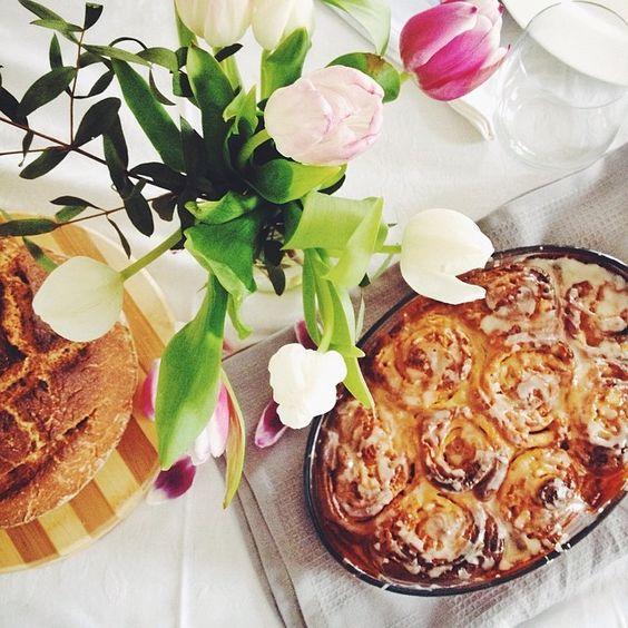 Almond & Orange Rolls for Sunday #brunch at home.