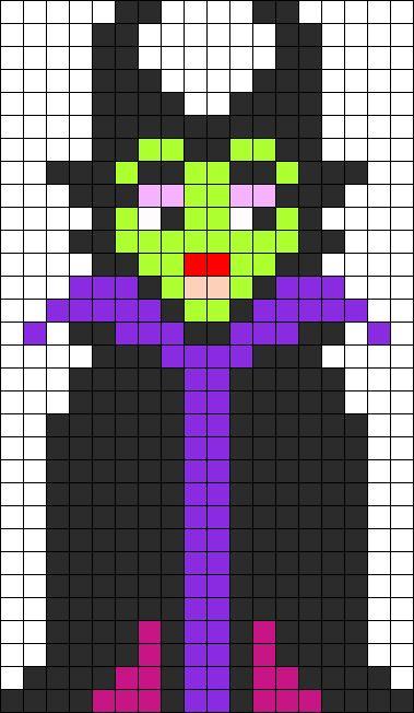 Perler Maleficent Perler Bead Pattern / Bead Sprite: