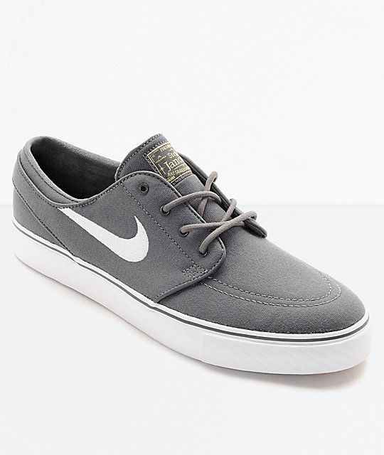 cheap for sale exclusive deals newest Nike SB Janoski Canvas Grey & White Skate Shoes | Nike sb janoski ...