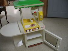 Vintage Little Tikes Child Size Green Roof Kitchen... I had this...