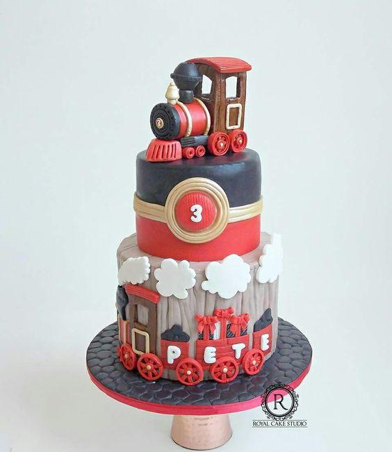 Choo Choo Train Cake With 3d Train Topper Confetti Birthday Cake