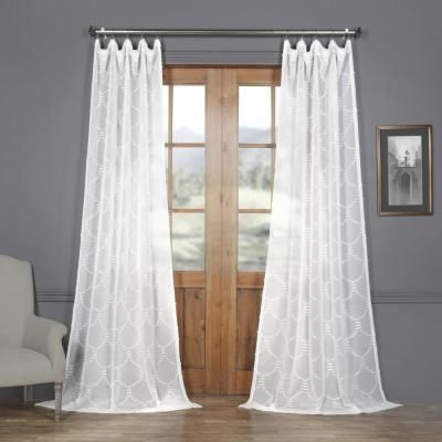 Exclusive Fabrics Furnishings Marseille Shell White Patterned