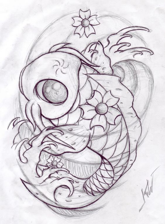 Koi fish drawings koi sketch number two by sweetnights for Coy fish drawing