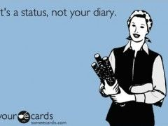 Its A Status Not Your Diary