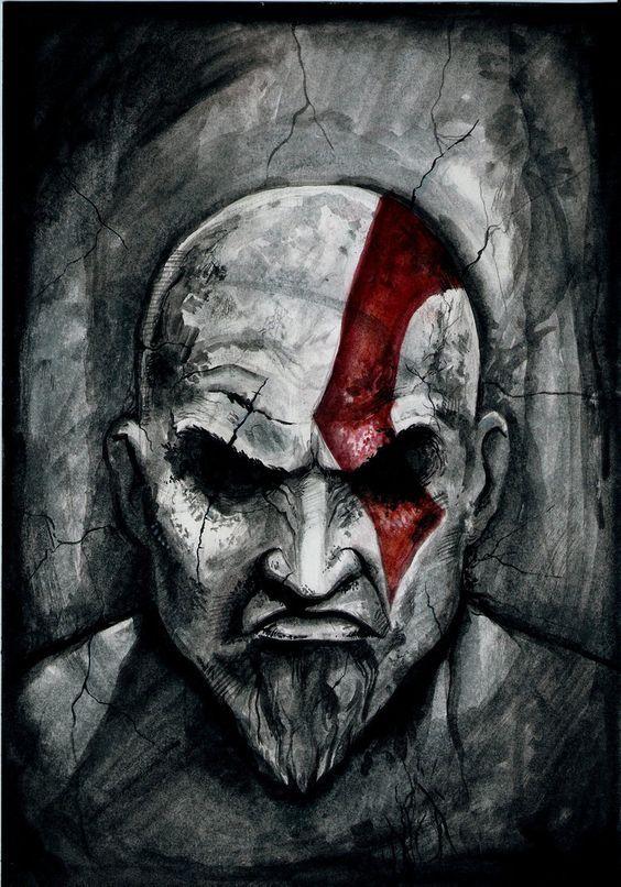 God Of War Gallery Kratos Desenho Good Of War E Tatuagens Misticas
