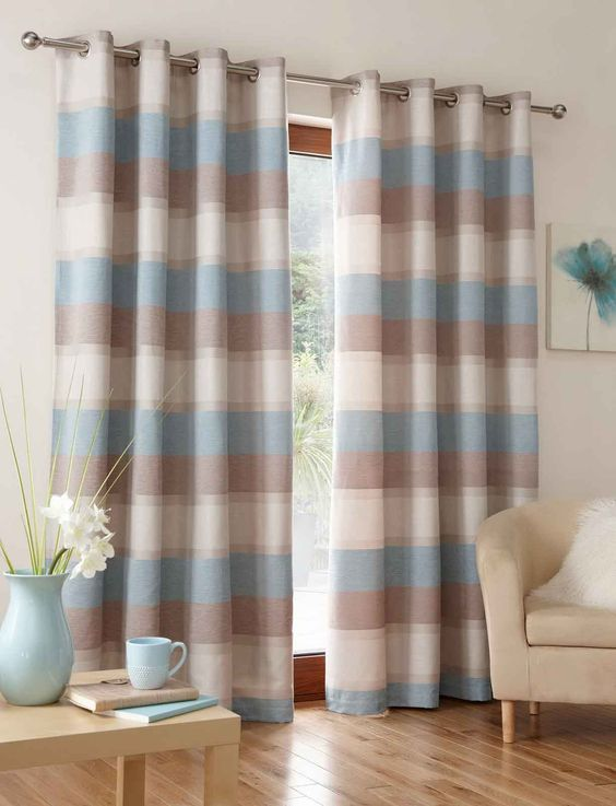 Green Curtains brown cream and green curtains : Marvellous blue brown bedroom design decobizzbrown curtains ...
