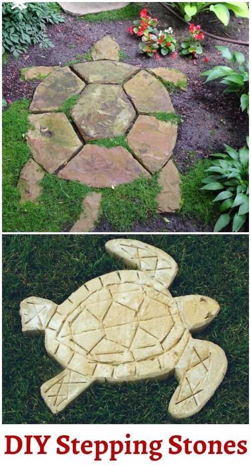 How To Make Beach Garden Stepping Stones With Shells Seaglass Pebbles In 2020 Garden Stepping Stones Unique Garden Art Stepping Stones