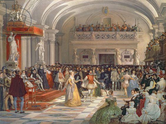 edmond lechevallier chevignard the wedding of henri de bourbon king of navarre to marguerite de valois in the presence of catherine de medici and - Domaine De La Navarre Mariage