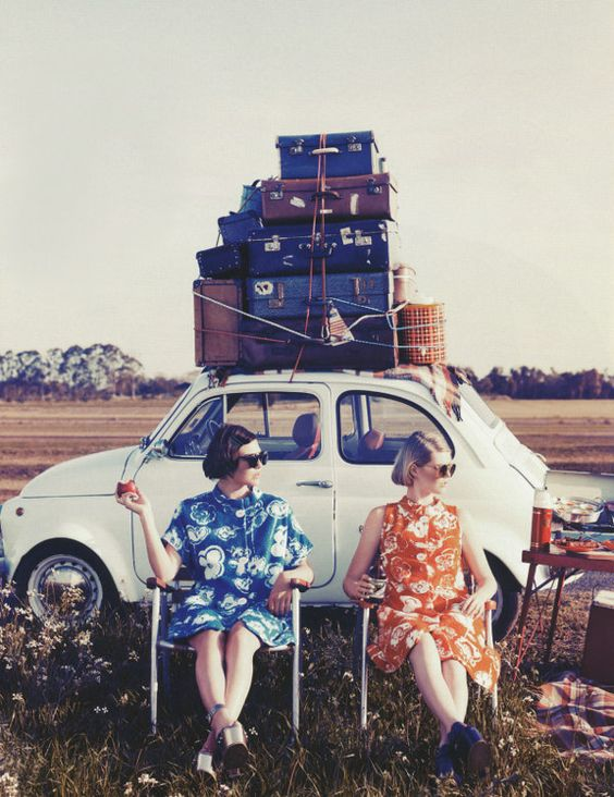 Two for the road photographed by Corrie Bond for Marie Claire Australia: