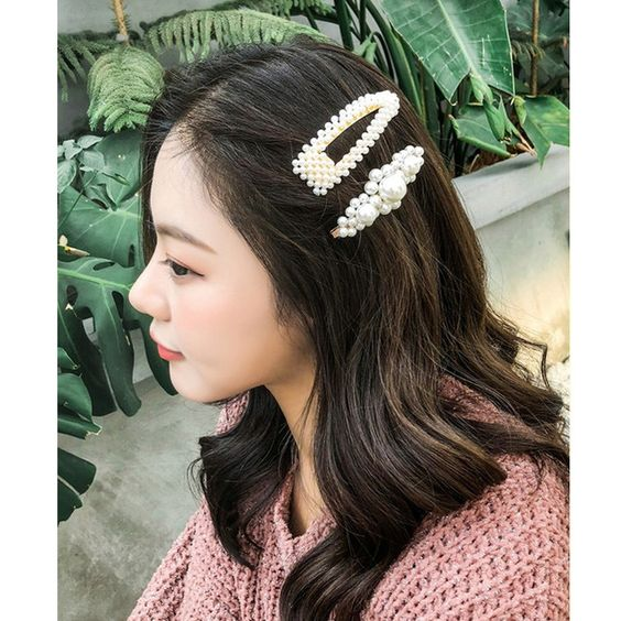 M MISM Full pearls Hair Clips for Women Fashion Sweet Imitation Korean Style Hairpins Alloy BB Headmade Girls Hair Accessories Review