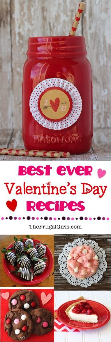 43 Valentines Day Recipes!  Fun red and pink drinks, delicious desserts, and romantic date nights at home! | TheFrugalGirls.com