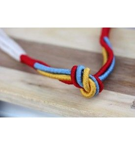 Rope Knot Necklace    15inches long, metal closure