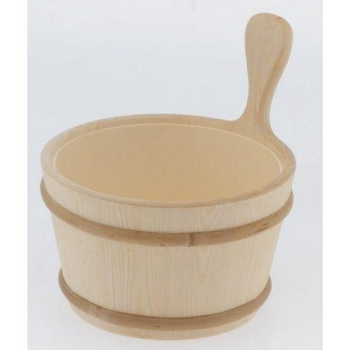 1 Gallon Lined Wood Bucket for Saunas. #saunas   http://saunas.com