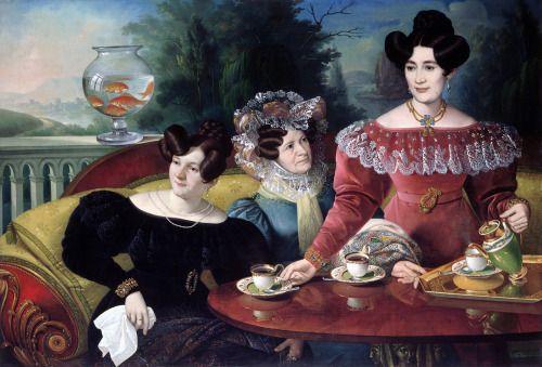 1829 Giuseppe Tominz - Three ladies of the Moscon family: