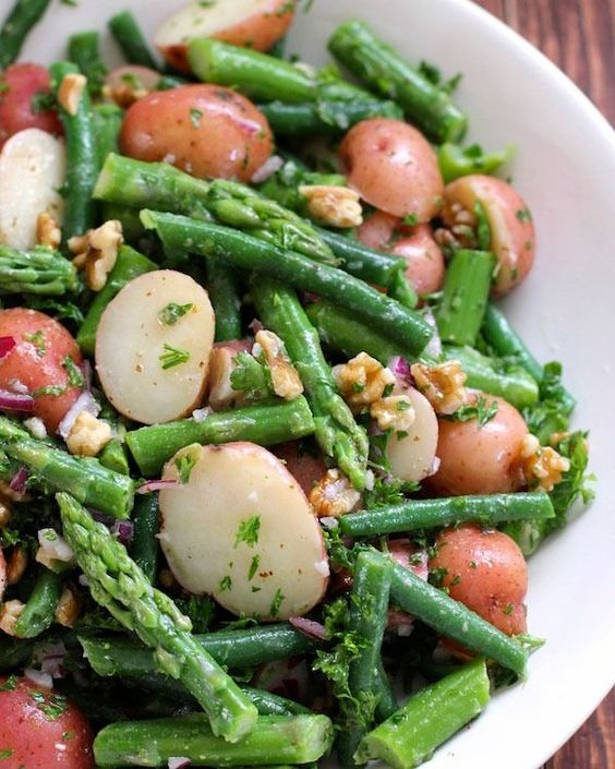 Resistant starch recipes Potato Salad with Green Beans and Asparagus
