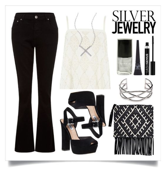 """""""Sweet Silver Jewlery"""" by alaria ❤ liked on Polyvore"""