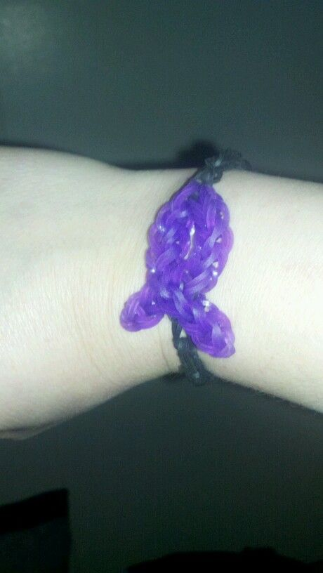 I just made my LUPUS AWARENESS bracelet from my Rainbow Loom!!